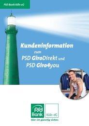 Kundeninformation - PSD Bank Köln eG