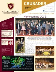 FL November 2012.indd - Faith Lutheran Middle School and High ...