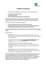 Checkliste Privatkredit - PSD Bank Köln eG
