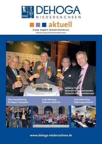 DEHOGA Magazin Nr. 6 November/Dezember 2012