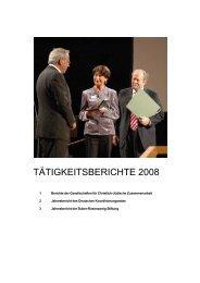 TÄTIGKEITSBERICHTE 2008 - Der Deutsche Koordinierungsrat der ...