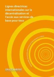 Lignes directrices internationales sur la décentralisation et l ... - UCLG