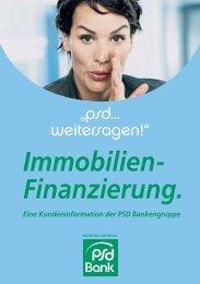 Immobilien- Finanzierung. - PSD Bank Berlin-Brandenburg eG