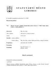 Obecně závazná vyhláška Statutárního města Liberce č. 7/2001 ...