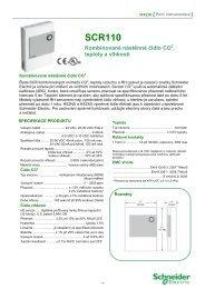 SCR110 - datasheet - CZ - Schneider Electric CZ, s.r.o.