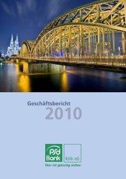 Geschäftsbericht PSD Bank Köln eG 2010