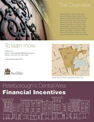 Central Area Financial Incentives Brochure - City of Peterborough