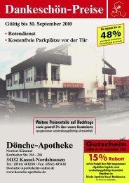 Gutschein Gültig bis 30. September 2010 15%Rabatt - Offizin 24