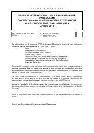 festival international de la bande dessinee d ... - Angoulême
