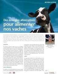 Des énergies alternatives pour alimenter nos vaches - Agri-Marché