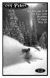Ski Review 03-04 The Fall Line Blisters 100 ... - Off-Piste Magazine