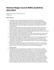 National Wages Council (NWC) Guidelines 2011/2012 - NTUC
