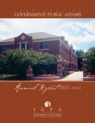 Read the 2000-2001 IGPA Annual Report - Institute of Government ...