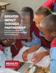 Greater Impact Through Partnership - 8 Reasons to Invest in the Global Partnership for Education Now More Than Ever
