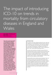 The impact of introducing ICD-10 on trends in mortality ... - CeLSIUS