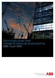 Technologie erster Wahl Intelligente Gebäude-Systemtechnik ABB i ...