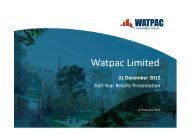 31 December 2012 Half Year Results Presentation - Watpac