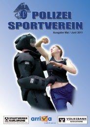 Journal Mai/Juni 2011 - Polizeisportverein Karlsruhe e.V.