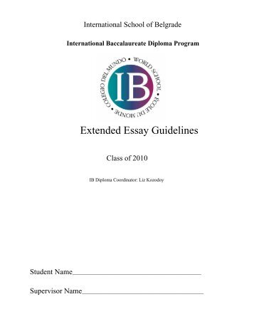 ib economics extended essay structure Writing an extended essay ib core extended essays since this is about writing an extended essay i should quote the source of these numbers.