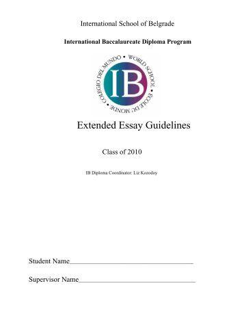 biology extended essay assessment criteria