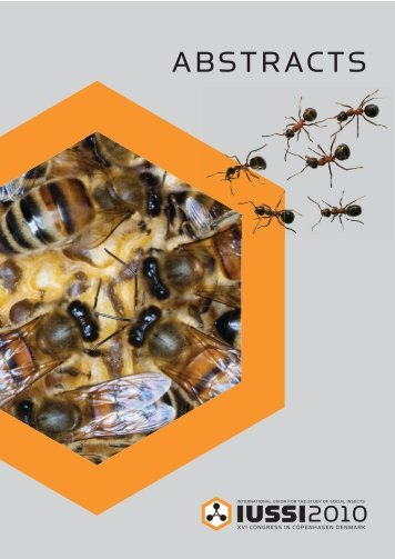 Abstract book final - International Union for the Study of Social Insects