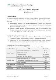 2013 FCT Calls for Proposals