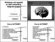 Tidlig Intervensjon med ABA 4 slides per side sort/hvitt - Autisme kan ...