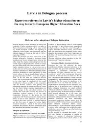 reforms in latvia's higher education within bologna process