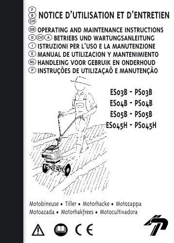 b notice d'utilisation et d'entretien - Mountfield Lawnmowers