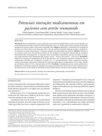Potenciais interações medicamentosas em pacientes com ... - SciELO