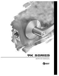 BEST 9K Series Service Manual - Locksmith Security Association of ...