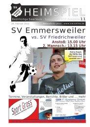 """Download """"HEIMSPIEL"""" Ausgabe 11 - Förderkreis Emmersweiler eV"""