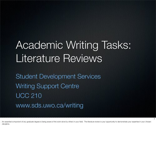 Literature Reviews - Student Development Services