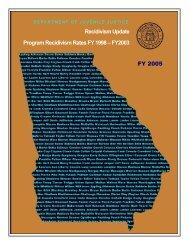 Recidivism Update Program Recidivism Rates FY 1998 - Georgia ...