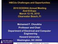 Mohammad Chouikha, Howard University - ecedha