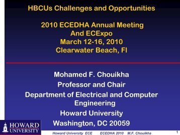 Mohammad Chouikha, Howard University - ecedha