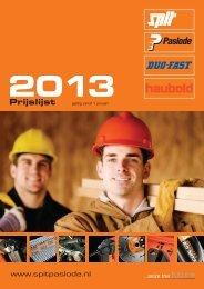 Prijslijst per 1 januari 2013 (incl afbeeldingen) - Spit Paslode