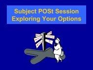 2013 Subject Post Presentation