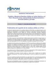 """Seminario Internacional: """"Gestión y Manejo de Residuos ... - Fonam"""