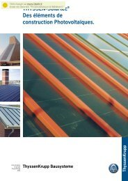 THYSSEN-Solartec® Des éléments de construction ... - Cythelia