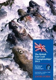 2013 Entry Form - National Federation of Fishmongers