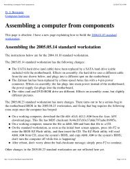Assembling a computer from components