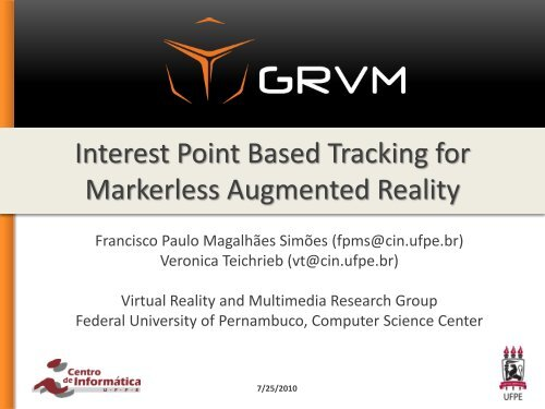 Interest Point Based Tracking for Markerless Augmented Reality
