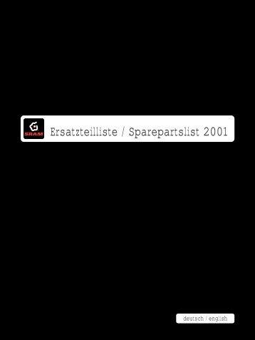 Ersatzteilliste 2001 U