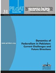 dynamics of federalism in pakistan Dec 2006 - Pildat.org