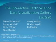 The Interactive Earth Science Data Visualization Gallery (vizGal)