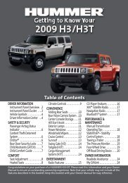 Getting to Know Your H3/H3T