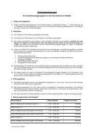 Teilnahmebedingungen für das Betreuungsangebot an der ...