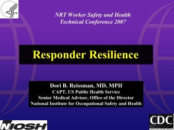 Responder Resilience - U.S. National Response Team (NRT)