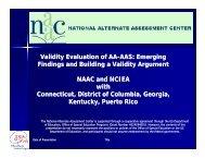 Validity Evaluation of AA Validity Evaluation of AA-AAS - NAAC